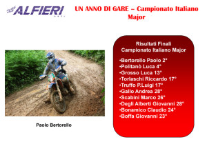 Resoconto Alfieri 2011-11